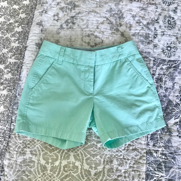 J. Crew Pants - J.Crew light teal chino shorts